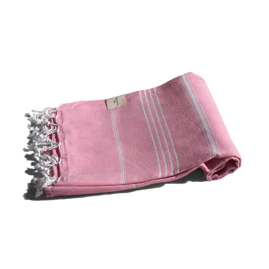 Rosa hamam-handduk