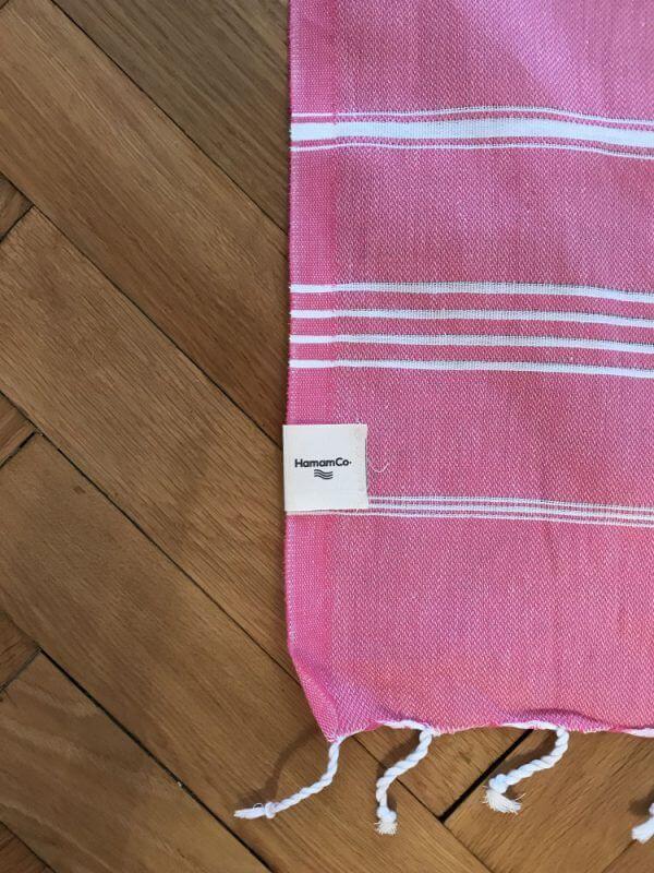 Amorgos – Rosa hamam handduk