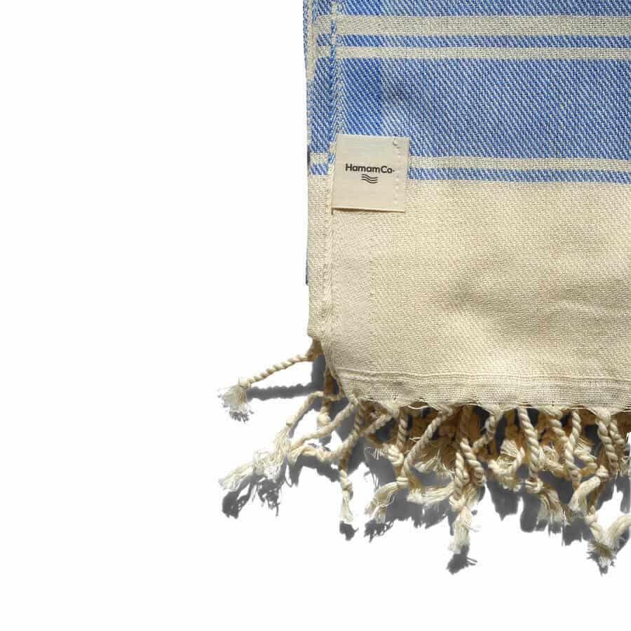 blå hamam-handduk