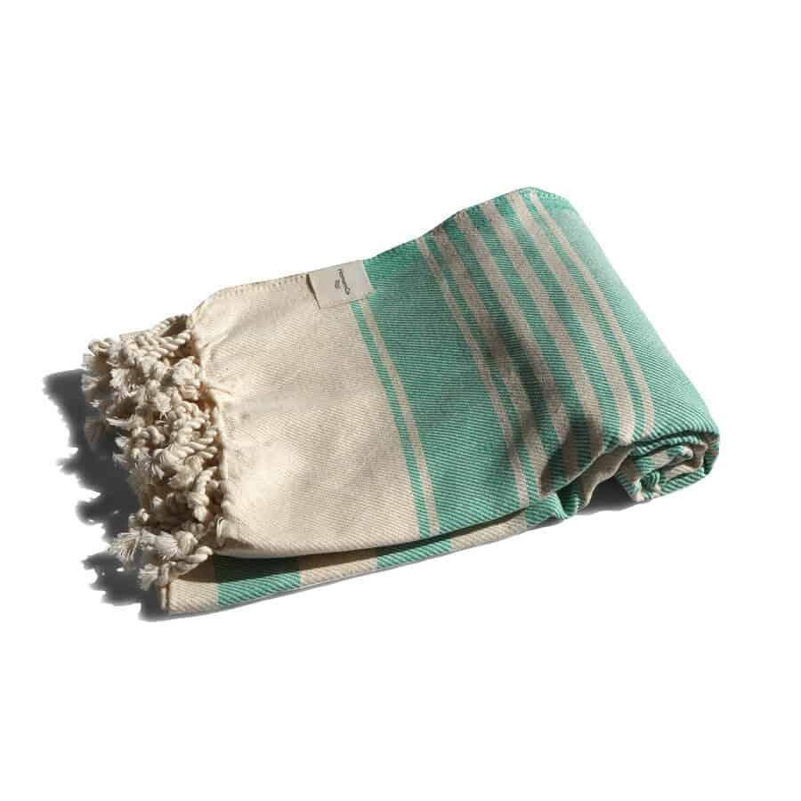 Grön hamam-handduk