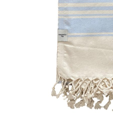 Ljusblå hamam handduk