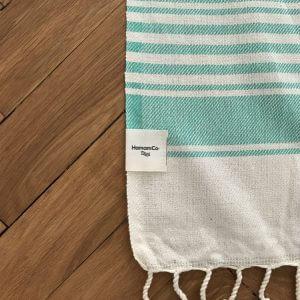 Antibes – Grön hamam handduk