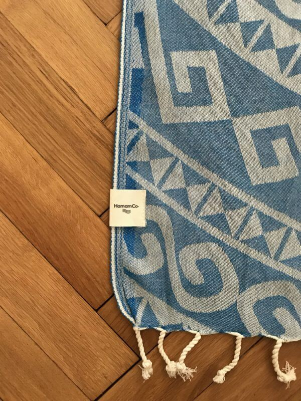 Aztec – Blå hamam handduk