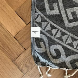 Aztec – Svart hamam handduk