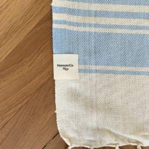 Antibes - Blå hamam handduk