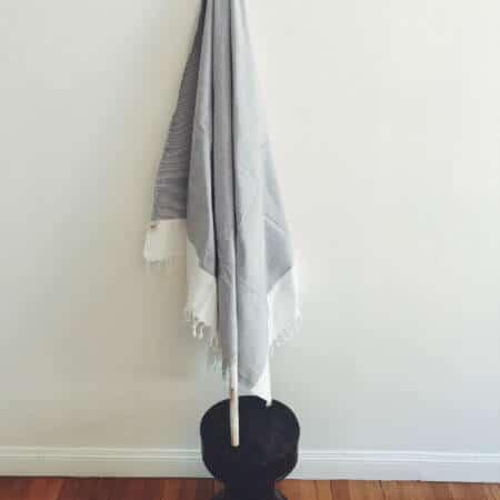 Hamam Handduk vit grå