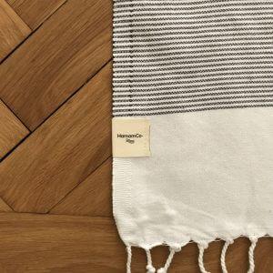 Capri - Grå hamam handduk