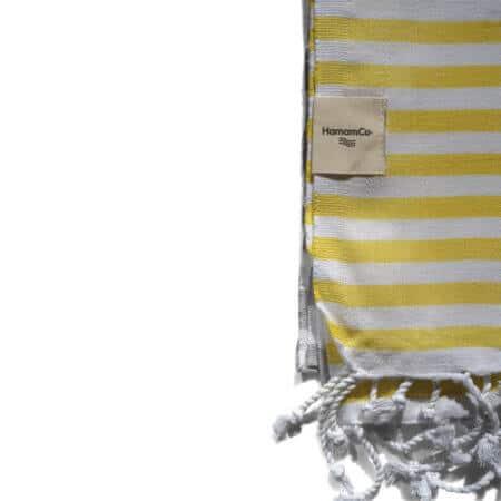 Maine – Gul/grå hamam handduk