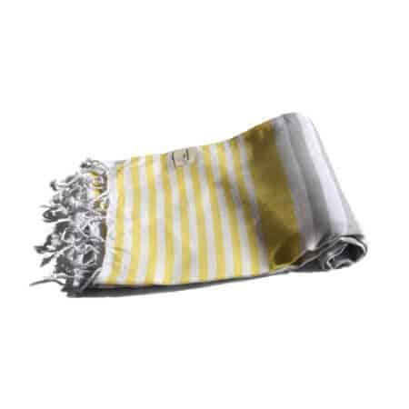 Gul grå hamam-handduk