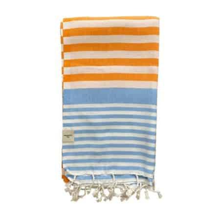 Orange och blå Hamam Handduk