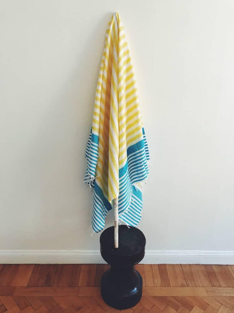 Hamam handduk blå gul