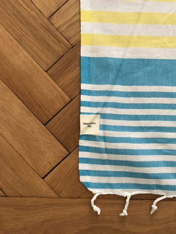 Maine – Blå/gul hamam handduk