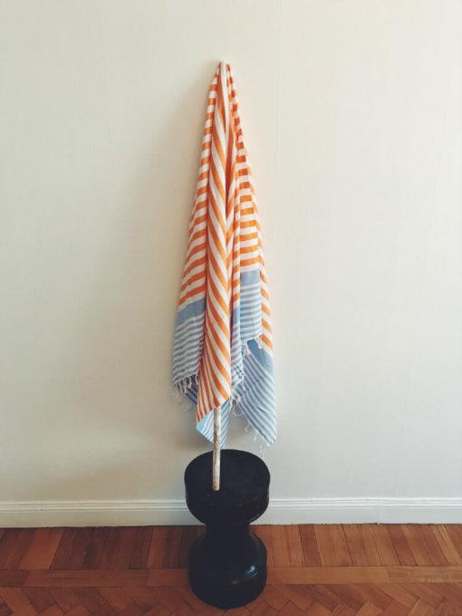 Maine – Blå/orange hamam handduk
