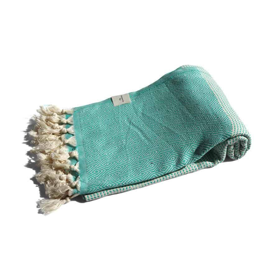 handduk grön