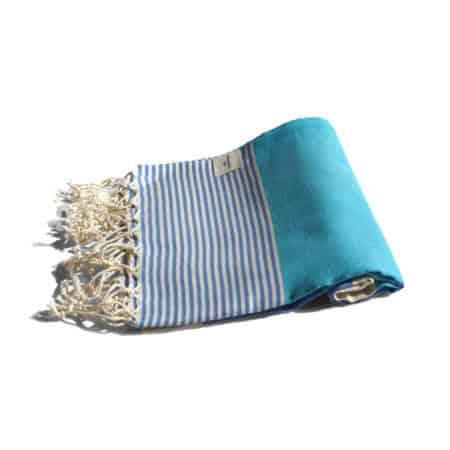 Blå hamam handduk