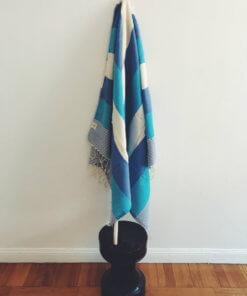 Sirolo – Blå/blå hamam handduk