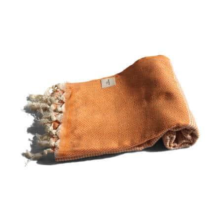 Orange hamam-handduk